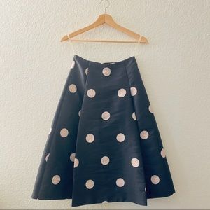 Kate Spade Women's Black Polkadot Skirt